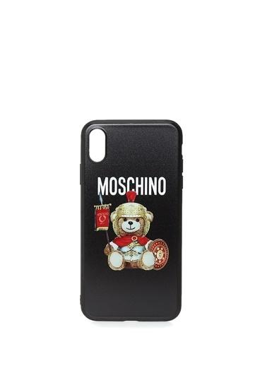 Moschino iPhone XS Max Aksesuar Siyah